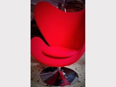 Egg Lounge Chair Rossa